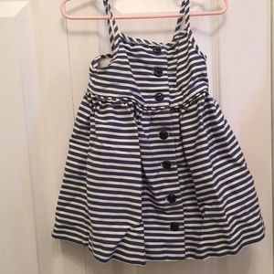 Ralph Lauren Navy & White Striped Dress 18 months